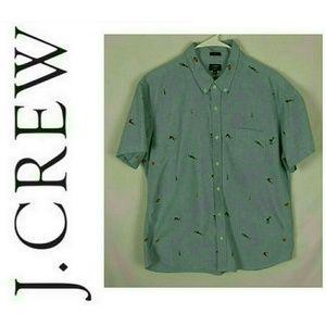 J. Crew Oxford Slim Mens Button Down Shirt Sz XL
